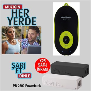 Goldmaster Enjoy-50 Mp3/Selfie Buton/Bluetooth + Powerbank
