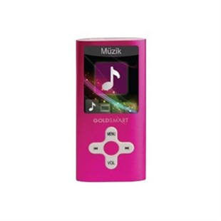 Goldmaster GoldSmart MP4-224 PEMBE 8GB MP3 Çalar